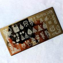 Шаблоны для штамповки ногтей на Рождество и Хэллоуин штампы