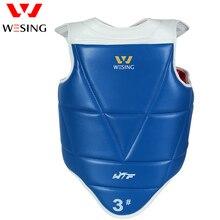 Wesing WTF Taekwondo Protective Gear Chest Guard Microfiber Leather Taekwondo Chest Protector Both Sides Wear