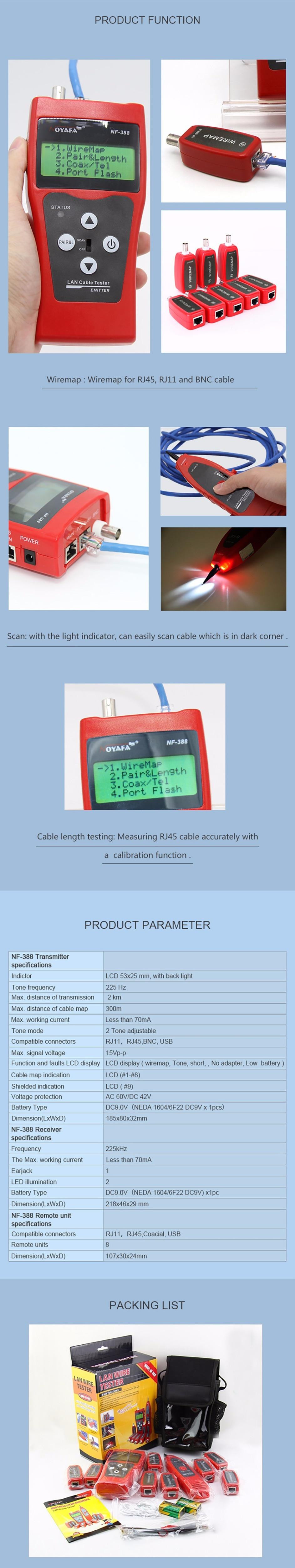 Pengiriman Gratis Noyafa Nf 388 Biru Lan Jaringan Kabel Tester Usb Adapter To Ethernet Rj45 Rj11 Untuk 8 Pc Port Versi Bahasa Inggris