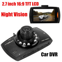 Hot selling Car DVR Motion Detection Night Vision G Sensor functon Car Camcorder 2.7 inch LCD 120 degree wide angle