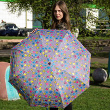 3pcs get 1pc free fiberglass windproof 5 times black coating anti-UV parasol pocket mini folding compact london printed umbrella
