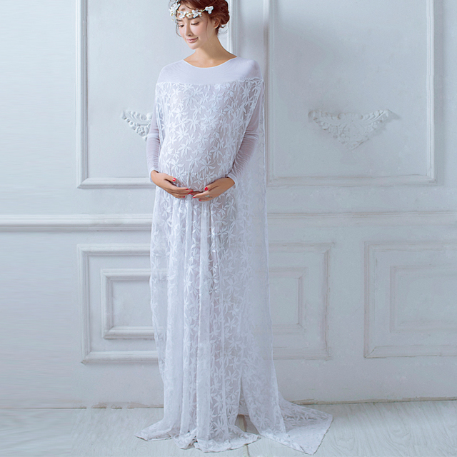 Maternity Dresses White Maternity Photography Props Dress for ...