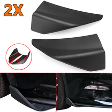 Front Bumper Lip Front Chin Spoiler Winglets For 2015-2017 For Ford For Mustang Front Chin Spoiler Winglets A Pair Matte Black(China)