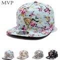 2017 moda floral snapback boné de beisebol cap hop chapéu plana boné de pala ajustável para mulheres dos homens aba reta osso gorras casquette