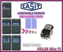 CASIT TXS1 TXS2 TXS3 TXS4 Universal remote control/transmitter garage door replacement clone duplicator Fixed code 433.92MHz for seav txs1 txs2 txs3 txs4 compatible remote control replacement 433 92mhz free shipping