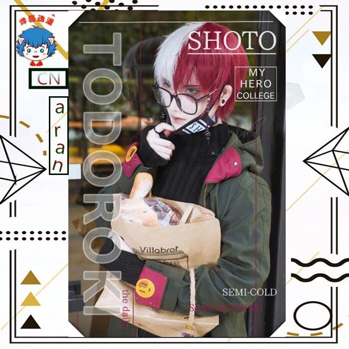 Cosplaydiy mon héros académique Boku pas de héros Akademia Todoroki Shoto Cosplay Costume écoles adultes Hip Hop Costume L320
