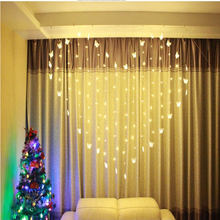 2M *1.5M Led Christmas Garland Butterfly Love Curtain Lights Indoor 220V String Fairy For Holiday Party Decoration lamp