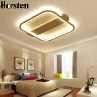 Modern Minimalism 62cm 36W Acrylic LED Ceiling Light Black White Iron Creative Bedroom Living Room Ceiling