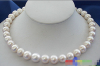 hot sell new HUGE 17 14MM WHITE ROUND FW CULTURED PEARL NECKLACE ^^^@^Noble style Natural Fine jewe FRE