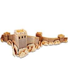 A gyermekek számára készült játék 3D-s fából készült puzzle Fából készült játék A nagy fal A Gyerekjáték is alkalmas Felnőtt játék A legjobb ajándék a kiváló minőségű fa