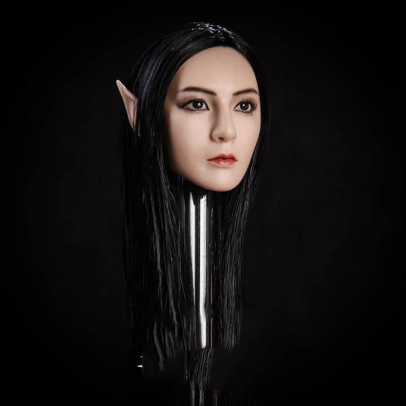 1//6 Fairy Elf Female Head Sculpt Detachable Ears SUNTAN For Female Figure PHICEN