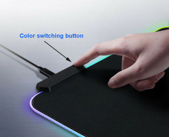 RGB Gaming Mouse Pad Rubber Mat RGB Colorful LED Lighting Gaming Mouse Pad For PC Computer 3D24 5
