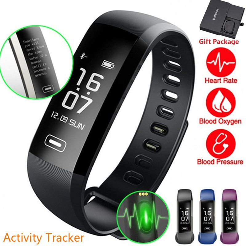 2018 Smart wrist Band Heart rate Blood Pressure Oxygen Oximeter Sport Bracelet intelligent For iOS Android Digital Smartwatch