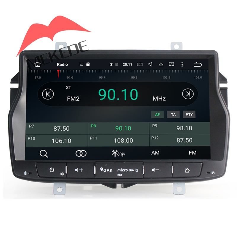 Free shipping to russia car gps navi for Lada Vesta support Eight Core 2G RAM