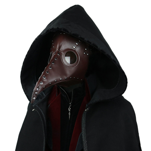 Image 2 - Steampunk Plague Bird Mask Doctor Mask Long Nose Cosplay Fancy Mask Retro PU Leather Halloween Mask Costume Props