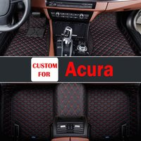 Choose From A Variety Of Colors Leather Durable Wear-Resisting Leather Car Floor Mats Special Pads For Acura Tlx Cdx Rdx Tl