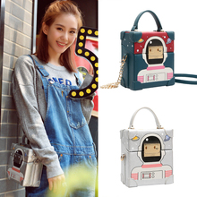Small box bag women's handbag shoulder bag cartoon print chain messenger bag