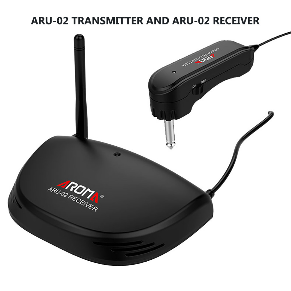 Arôme ARU-02 UHF Sans Fil Guitare Émetteur Numérique Guitare Emetteur Récepteur Système Audio Sans Fil Émetteur Guitare