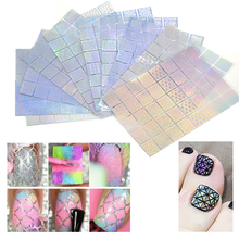 400 Pieces Nail Vinyls Stencil Kit Nail Guide Template Sticker for Nail Art DIY Airbrush Stencil Tips Decals Mixed 36 Designs