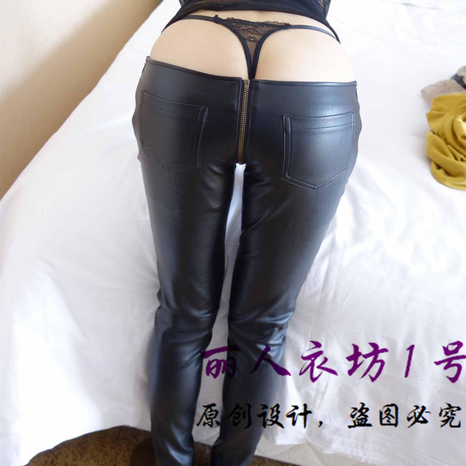 ff960667e7 PU leather trousers female tight black leather pants leather pants pants  feet mouth pencil pants Qiu dongkuan-in Pants & Capris from Women's  Clothing on ...