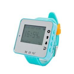 10 sztuk przycisk połączenia M-K-1 i 1 sztuk zegarek Pager M-W-1 Mindewin bezprzewodowy system wywołujący do restauracji i kawiarnia sklep