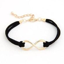 Fashion vintage Infinity bracelet Eight cross bracelet bangle jewelry leather bracelet Alloy Rope Accessories for woman