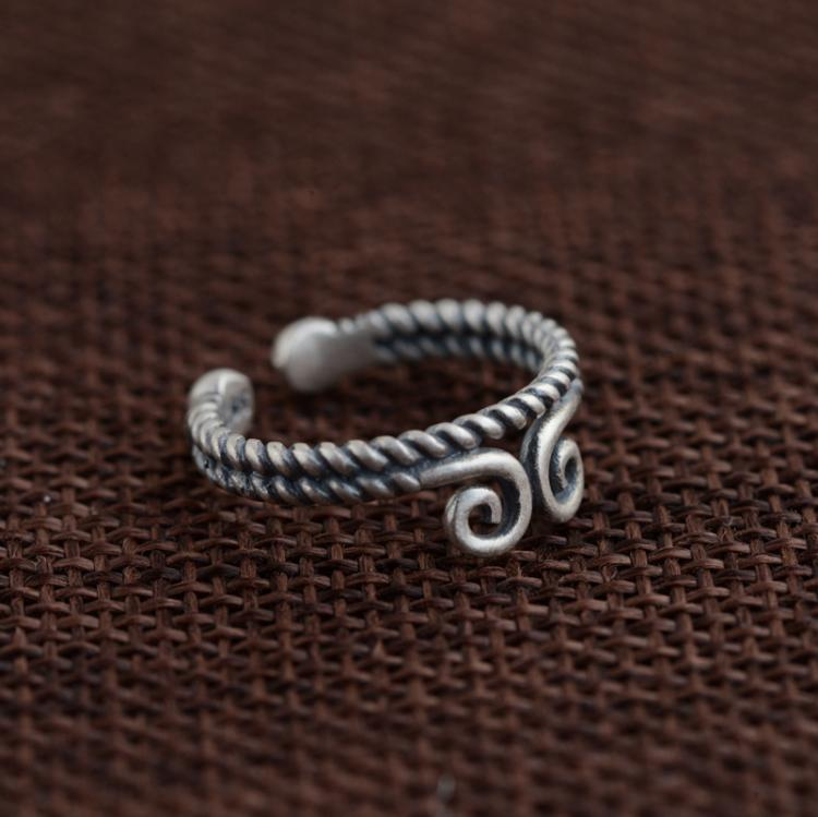 Antique Sterling Silver Ring S925 matte process manual PH7 style year of fate auspicious clouds inhibition of female siegal allan m nyt manual of style 5th ed