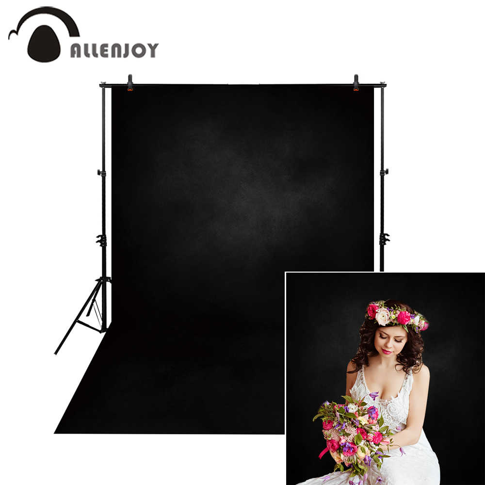 Allenjoy backgrounds photography black solid color old master professional studio photo backdrop PHOTOSESSION photocall props