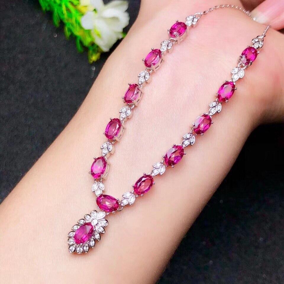 Topaze rose pierre précieuse pour collier avec argent