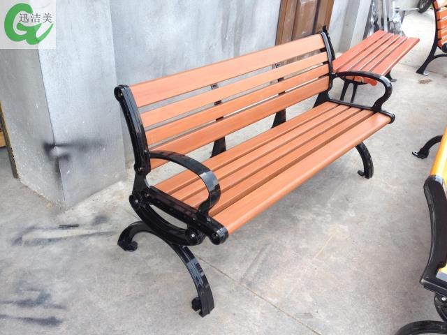 Pie de aluminio madera banco del parque bancos de PVC plástico de ...