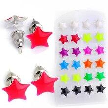 Mix 12 Pairs Lots Bulk Mixed Star Luminous Earrings Women Alloy Ear Studs Earring Fashion Ladies Jewelry Wholesale