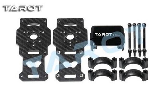 F10266/f10267 tarot tl96026-01 diámetro 25mm fibra de carbono modelos de soportes de motor para el helicóptero