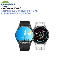 904f0a3e545 KingWear KW88 Smartwatch Android 5.1 Smart Phone Watch 1.39   Camera  Recording 3G MTK6580 1.39