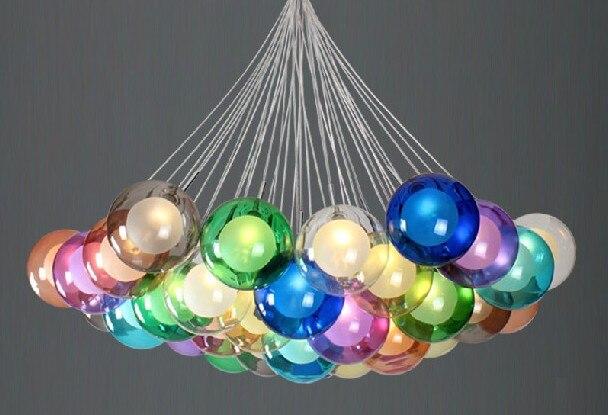 Fashion led bulb glass ball pendant chandelier colorful diy art fashion led bulb glass ball pendant chandelier colorful diy art colorful ball ceiling lamp lantern fixture in pendant lights from lights lighting on aloadofball Choice Image