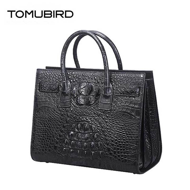 2018 New top cowhide Crocodile pattern leather Genuine Leather women bags Leather Tote bags handbags women famous brands цена