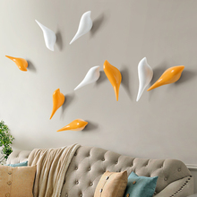 Creative wall hooks bird decoration Resin wood grain hooks bedroom door after animals Hooks 3D coat hook single wall hanger L50