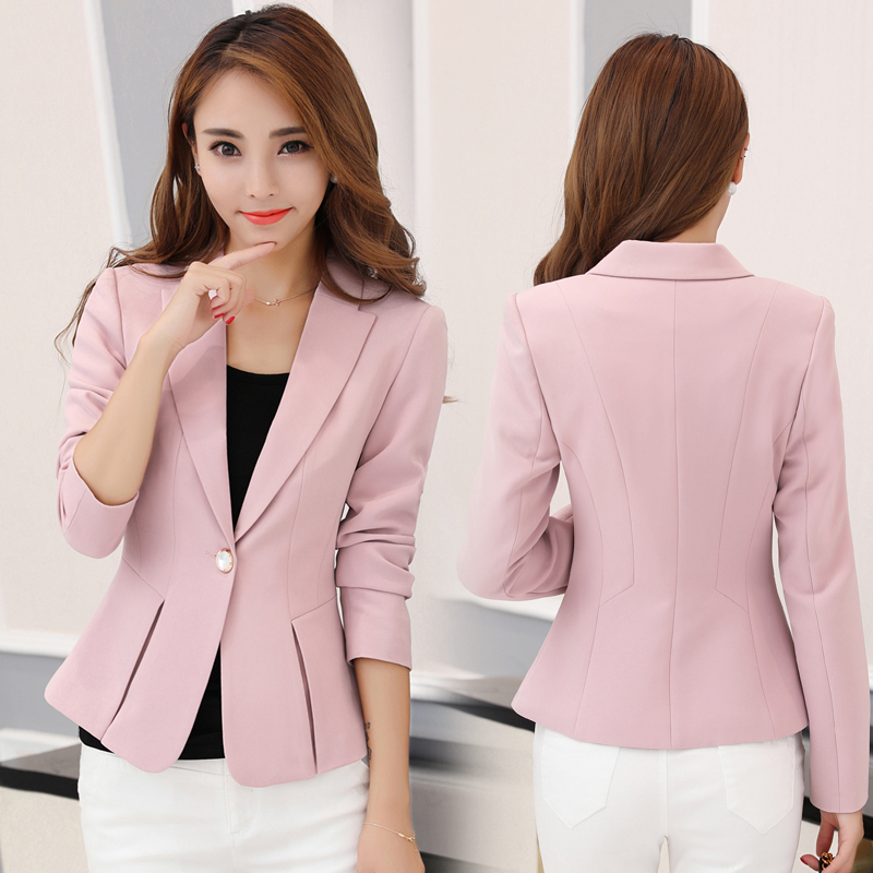 2019 New Korean Version Of The Self-cultivation Long-sleeved Temperament Casual Wild Female Small Suit Jacket