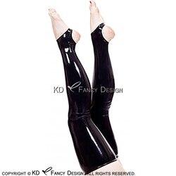 Черные сексуальные длинные латексные чулки до бедра с открытой подошвой, Длинный Резиновый чулок, для женщин, резиновый чулок