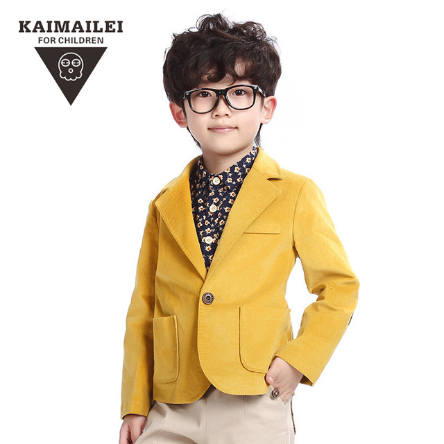kids blazer yellow