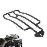 Negro solo asiento de equipaje estante Marcos Rack para Harley Sportster XL 883 1200 85-03