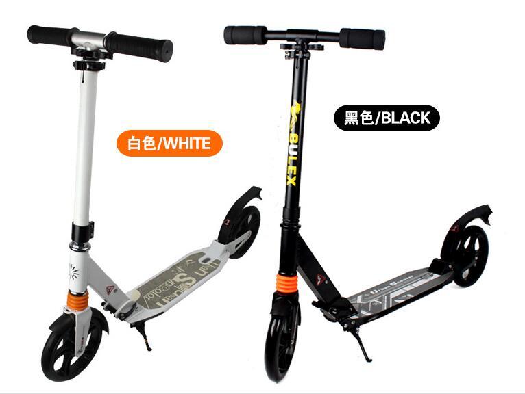 Pour adulte 20 cm haute qualité en alliage d'aluminium pied Scooter pliant coup de pied Scooter urbain scooters