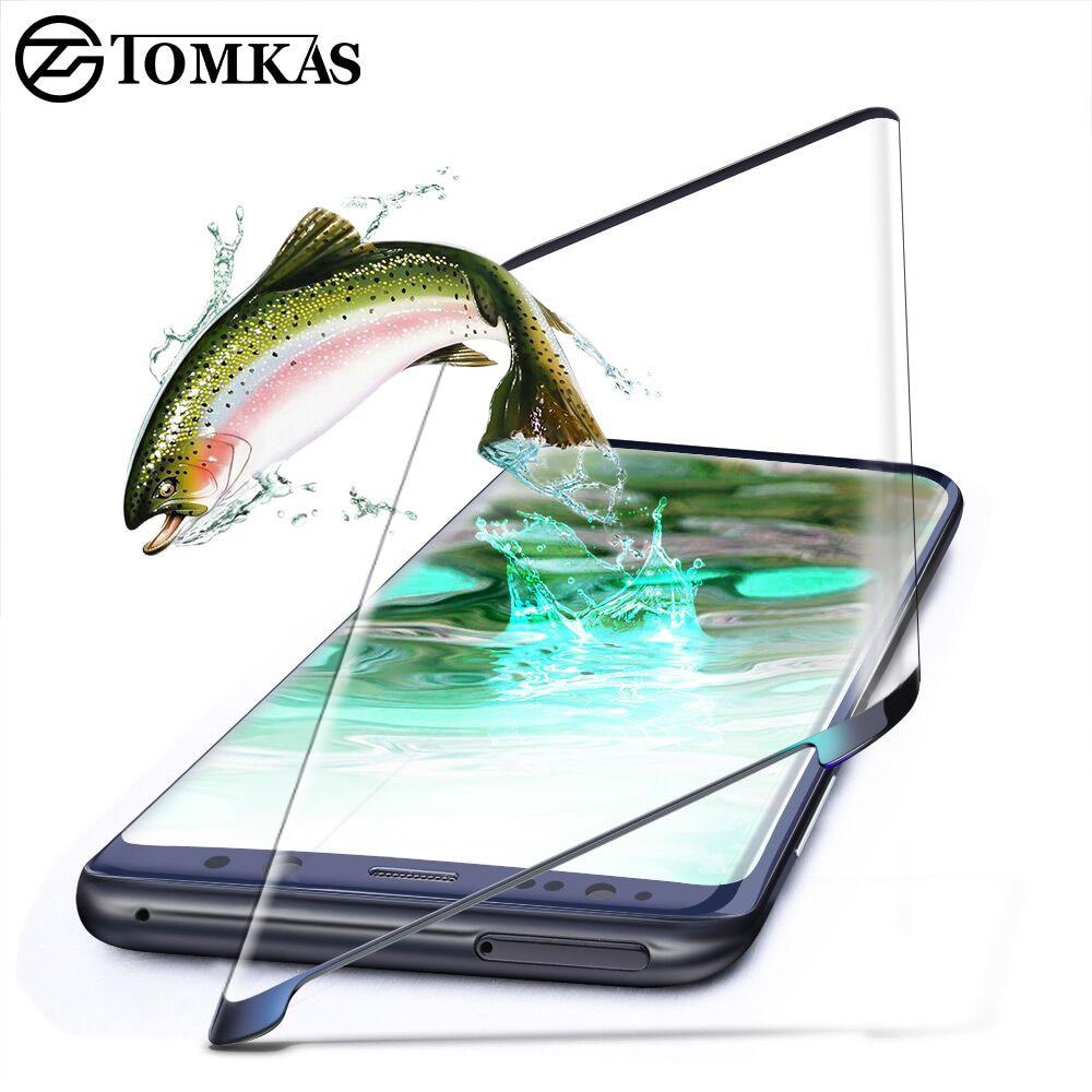 TOMKAS 5D Glass For Samsung Galaxy S8 S8 Plus 3D Protective Film Screen Protector Glass For Galaxy S8 S8+ Screen Protector