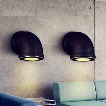 Loft Style Led Pipe Light Vintage Pipe Dining Room Wall Lights Bar Cafe Light Free Shipping