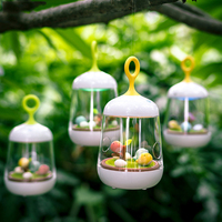 Creative Lovely Birdcage Led Night Light Rechargeable Touch Dimmer Desk Table Bird Lights As A Gift