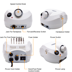 Image 4 - Máquina pulidora eléctrica para uñas, 202 RPM, con cortadores para manicura y pedicura, aparato de perforación, 35000
