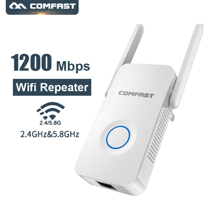 Comfast Wifi Repeater Extender Antenna-Range 1200mbps Wireless Router WR752AC 2--3dbi