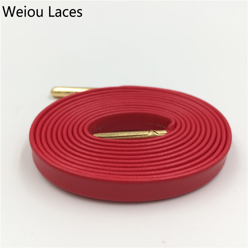 1fd013385e13a US $3.37 15% OFF|Weiou High end Luxury Sheepskin Soft Leather Flat  Bootlaces Customized Sneakers Shoe Laces Designer Shoelaces With Metal  Aglets-in ...