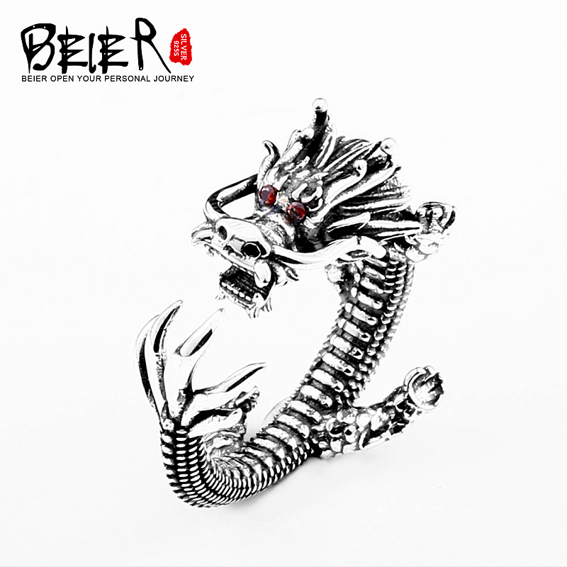 Beier New Store Arrive 925 Silver Sterling Nose Viking Dragon