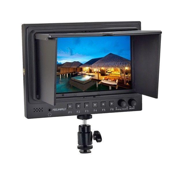 """Frete grátis! FEELWORLD FW-768/S/O/P 7 """"HD 1280x800 p Completo SDI 3G-SDI Monitor Da Câmera"""