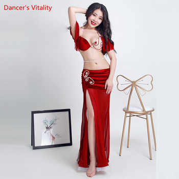 New Belly Bance Costume Suit Beginner Oriental Dance Dance Performance Clothing Sexy Bra+Split Long Skirt - DISCOUNT ITEM  10% OFF All Category